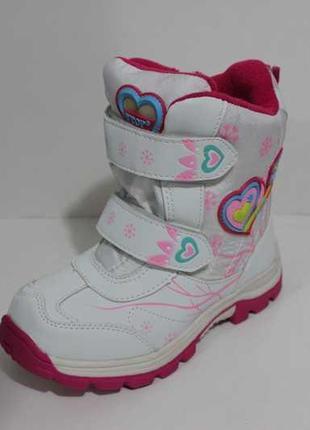Зимние детские ботинки на девочку, полусапожки на меху, зимняя детская обувь