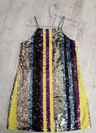 Тренд платье пайетки вечернее