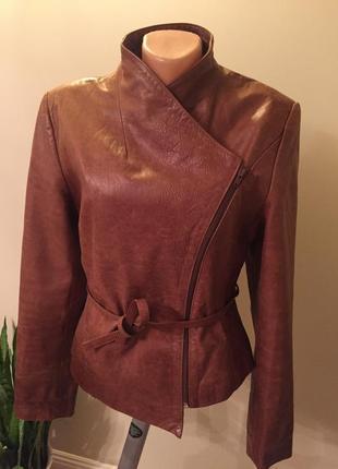Супер крутая кожаная куртка косуха франция!