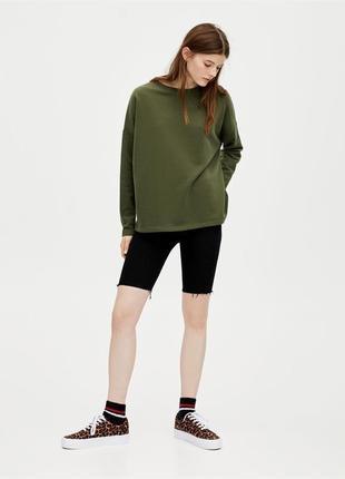 Свитшот оверсайз джемпер свитер хаки хлопок новый качественный