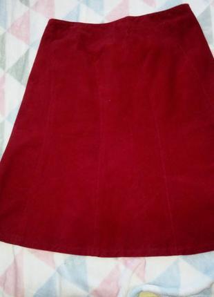 Вельветовая юбка годе цвета марсала размер 12