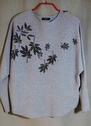 Нарядный свитер с шерстью мериноса
