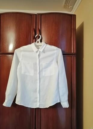 Рубашка marks&spencer, 100% лен, размер 8/36