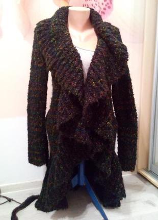 Фирменный шикарный женский кардиган. вязанное пальто. st- martins. великобритания.