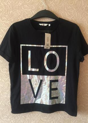 Новая фирменная стильная футболка misse vie, размер s, турция
