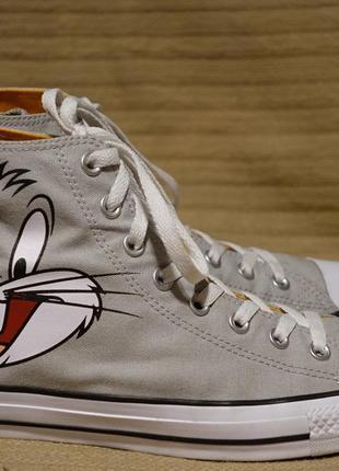 Высокие серые кеды из канваса converse  looney tunes bugs bunny chuck taylor 44 р.