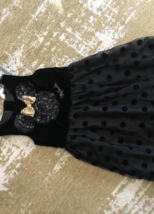 Платье нарядное с мики маусом h&m на  7-8 лет!