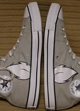 Высокие серые кеды из канваса converse  looney tunes bugs bunny chuck taylor 44 р.7 фото