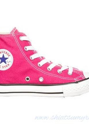 Converse chuck taylor all star розовые кеды высокие
