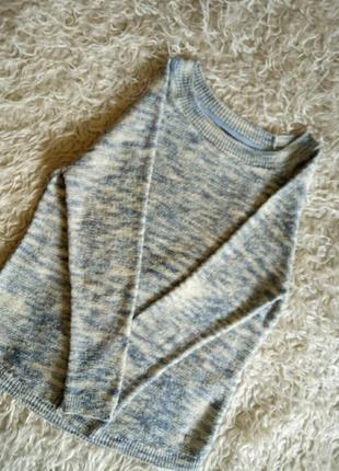Меланжевый свитер ок оверсайз