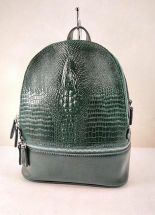 Кожаный шикарный рюкзак ,просто бомба
