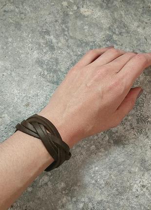 Кожаный браслет, ручная работа, украшение