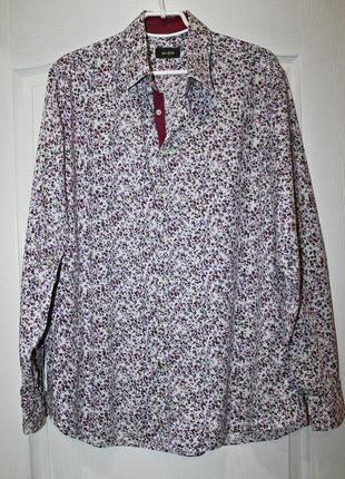 Шикарная блуза рубашка в цветочный принт