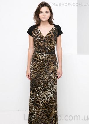 🌺👗🌺новое, красивое длинное женское леопардовое платье, сарафан mango🔥🔥🔥