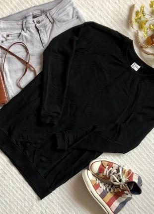 Чёрный удлинённый свитшот платье