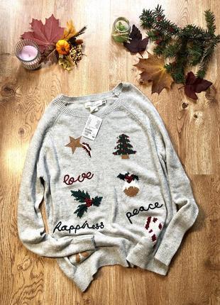 💎стильный свитер h&m