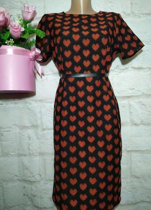 Платье миди прямого силуэта теплое  р 12 collection london