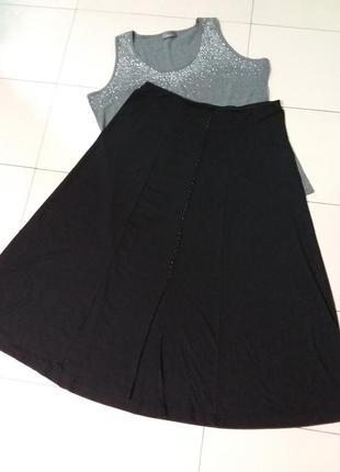 Длинная трикотажная юбка большого 20 размера