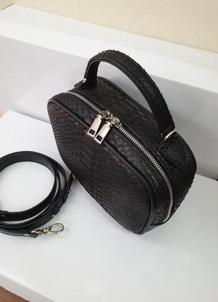 Базова сумка в натуральному пітоні
