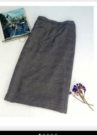 Трендовая юбка миди на осень