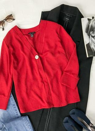 Оригинальная яркая блуза, декорированная пуговицей  bl 1942137  new look