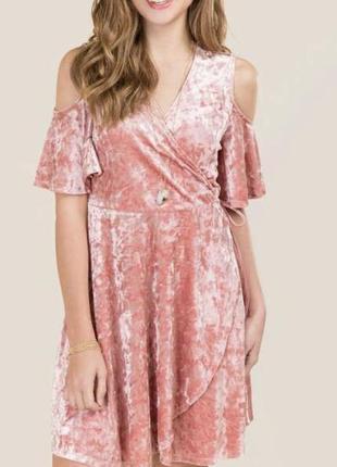 Платье велюр francesca's