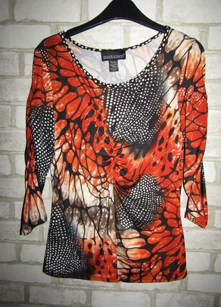 Красивая блуза кофточка р-р 12 бренд frank lyman