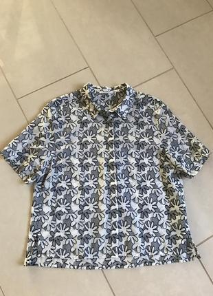 Блуза батистовая уникальная дорогой бренд германии globus essentials размер 40-42, l/xl