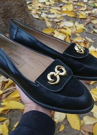 Туфли лоферы кожаные hush puppies размер 41