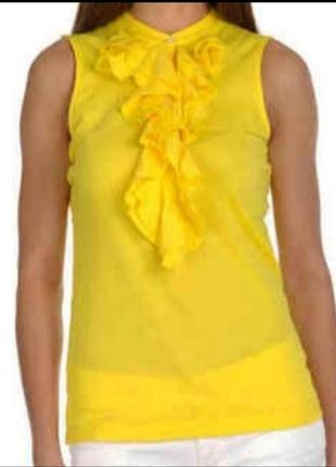 Желтая блуза майка топ  ralph lauren р. s
