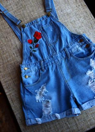 Новый, джинсовый сарафан, комбинезон, комбінезон, ромпер