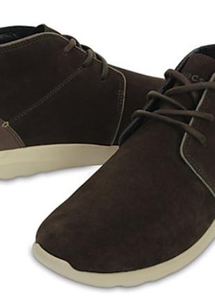 Замшевые утепленные ботинки crocs