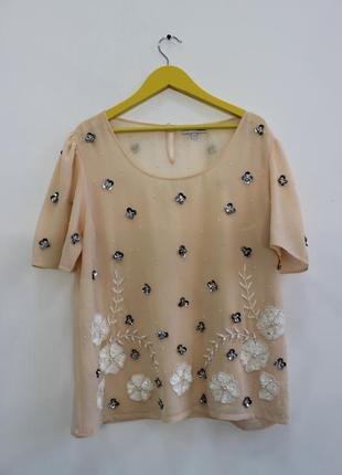 Блуза расшитая бисером и паетками