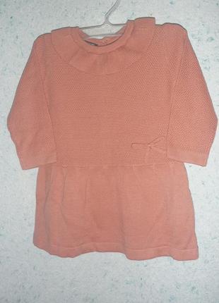 Вязаное платье 9мес от kiabi франция