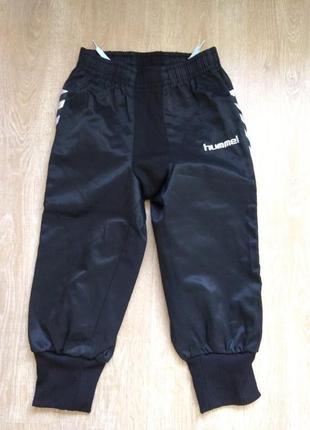 Спортивные штаны с манжетами и эластичной вставкой, hummel