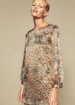 Классное золотое платье zara