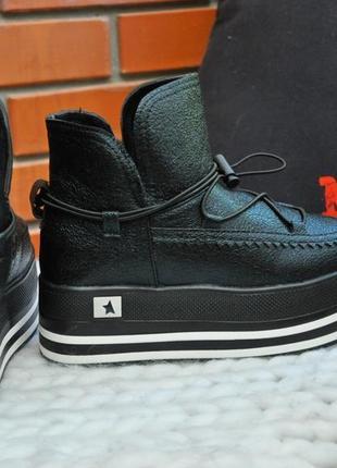 Ботинки на платформе. демисезон. черный, арт. 1021