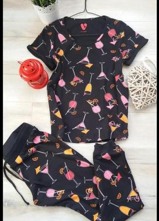 Трикотажный костюм для дома пижама by very размер 10-12