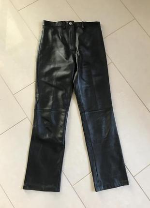 Штаны кожаные классика дорогой бренд tomahawk размер 38 или м
