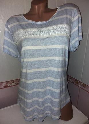 Меланжевая футболка 56 разм.