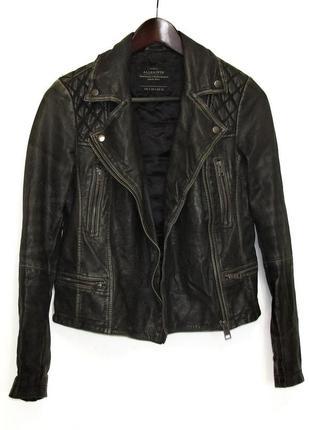 Крутая куртка косуха, allsaints, натуральная кожа