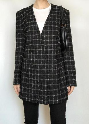 Обалденное базовое пальто oversize в клетку alexon (жакет)