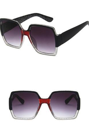 4-47 трендові сонцезахисні окуляри з блискітками солнцезащитные очки с блесточками