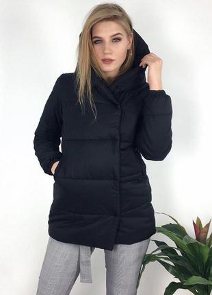Невероятно стильная куртка, курточка, чёрная, плащ с капюшоном зефирка