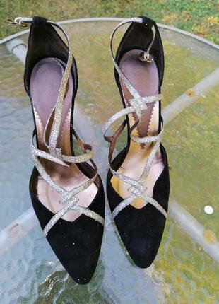 Нарядные туфли с пайетками emporio armani