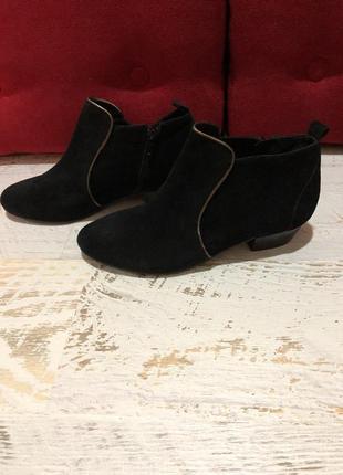 Замшевые ботиночки 36рр
