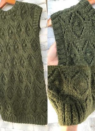 Стильное вязаное платье , шерсть мериноса/ ангора