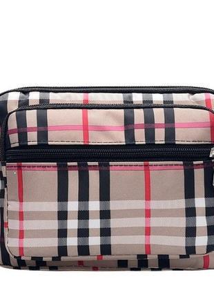 3-63 жіноча сумка в клітинку кросс-боди женская сумочка вместительная