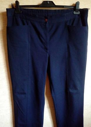 Брюки из классической тёмно синей костюмной ткани на 56/58 размер