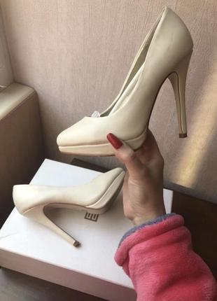 Туфли elena chezelle бежевые, нюдовые, шампань, ivory свадебные